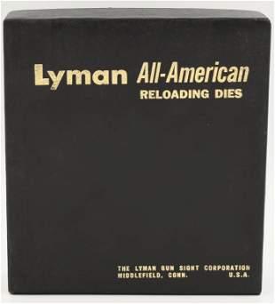 Lyman A-A Dies 3 Die Rifle Set Vtg Super Conditin