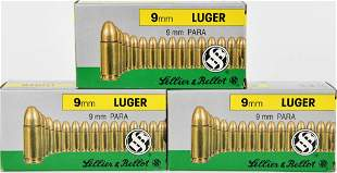150 Rounds Of Sellier & Bellot 9mm Luger Ammo