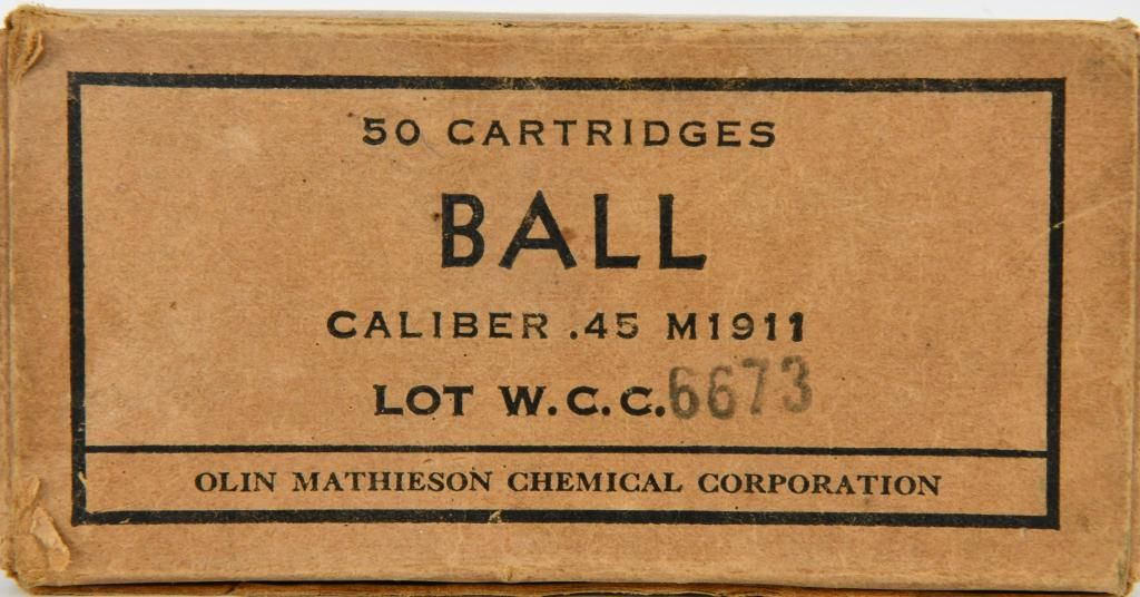 50 Rounds Of Ball .45 Auto M1911 Ammunition