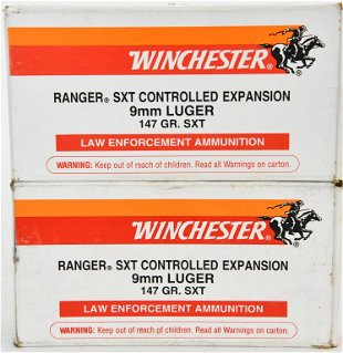 100 rounds winchester sxt ranger 9mm luger ammo aug 23 2020 brand used works in co liveauctioneers