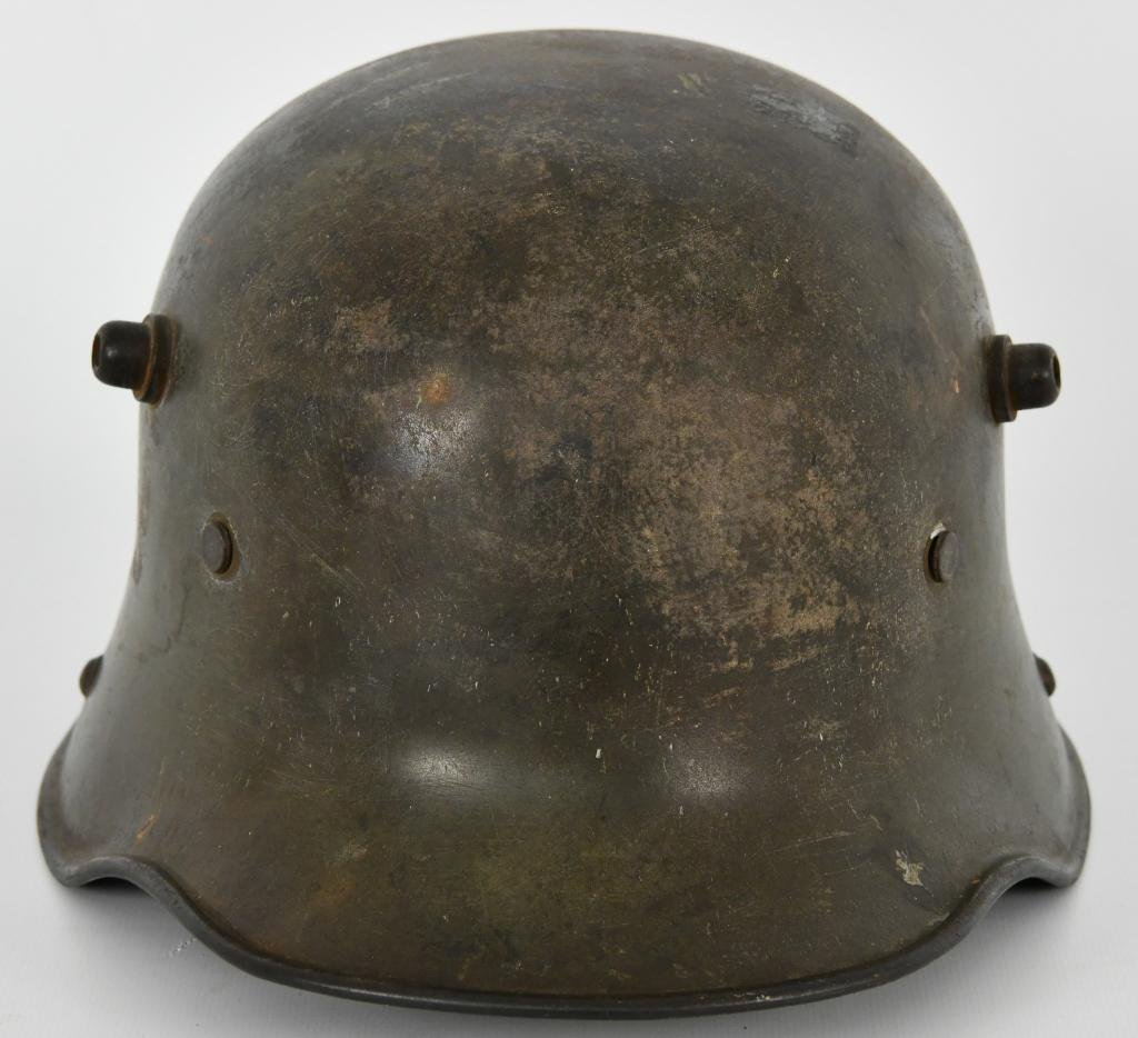 WWI German M16 Helmet: as best as I can figure