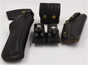 Lot of Leather Holsters and Pouches