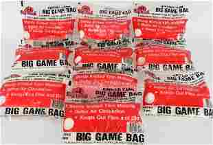 Lot of 10 Knitted Yarn Big Game Bag New in pkg