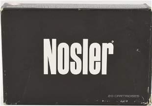 1 rd and 19 Brass Casings NOSLER BT Ballistic Tip