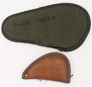 Lot of 2 Soft Padded Handgun Cases