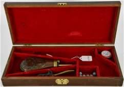 Wood Black Powder Revolver Case  Accessories