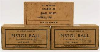 150 Rounds Of Ball M1911 .45 Auto Ammunition