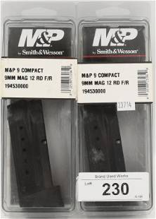 2 SW MP 9 Compact 9MM 12 rd Mags NIP