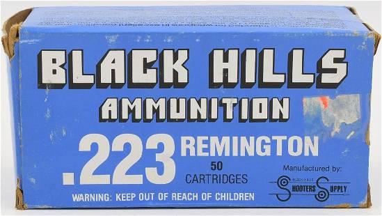 50 Rounds Of Black Hills 223 Rem Ammunition