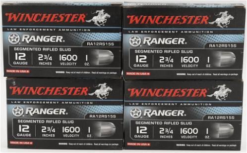 20 Rounds Of Winchester 12 Ga Rifled Slug