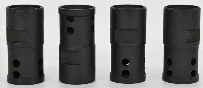 Lot of 4 Heavy Duty Metal AR15 Flash Hiders