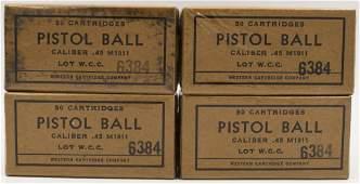 200 Rounds Of M1911 .45 Cal Pistol Ball Ammunition