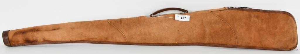 Suede Leather Padded Shotgun Case 5052