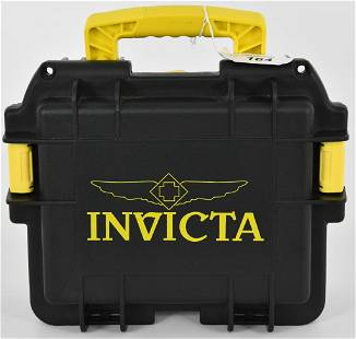 Black Invicta Watch Padded Large Hard case
