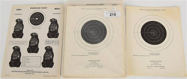 Approx 125 Vintage Shooting Targets
