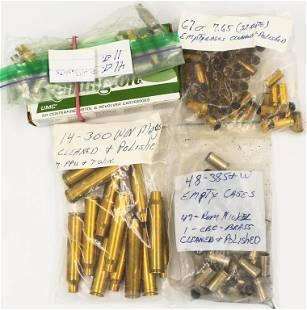 Lot of Various Pistol Rifle Empty Brass Casings