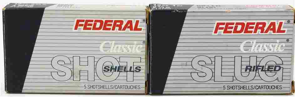 10 Rounds Of Federal 12 Ga Buckshot Rifled Slugs