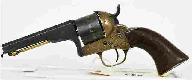 Desirable Engraved Civil War Moore Belt Revolver
