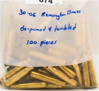 100 Count Of DePrimed Tumbled 3006 Brass