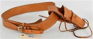Tan Leather Holster & Belt Combo
