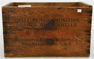 Vintage Winchester Small Arms Wood Ammo Crate