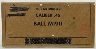50 Rounds Of Ball M1911 .45 Cal Ammunition