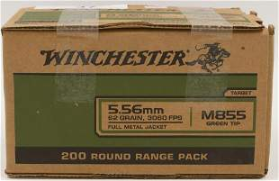 200 Rounds Of Winchester M855 5.56 NATO Ammo