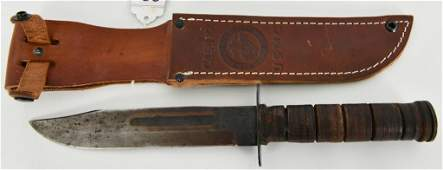 Case U.S.M.C. Military fixed Blade w/ Leather Shea