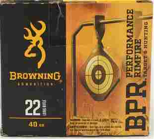 400 Rounds Of Browning BPR Target .22 LR Ammo