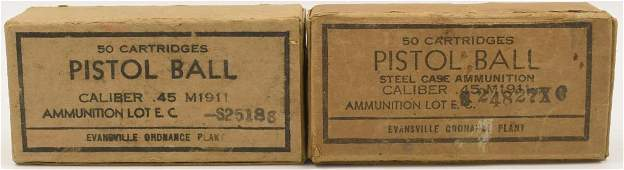 Approx 100 Rounds Of M1911 .45 Auto Ammo