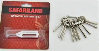 10 Peerless Hand cuff keys and Safariland Key