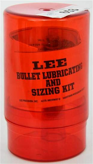 Lee Sizing Kit .356 with plastic storage and paper