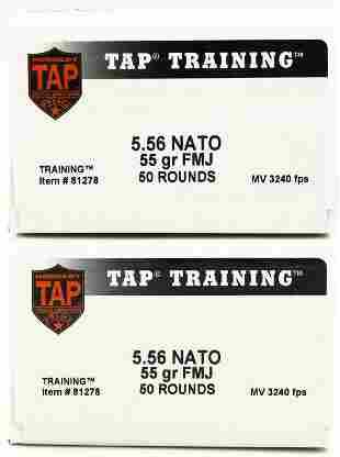100 Rounds Of Tap Training 5.56 NATO Ammunition