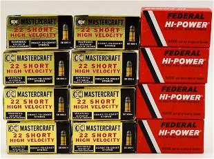 600 Rounds of .22 Short Ammo Federal & Mastercraft