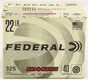 325 Rounds Federal Auto Match .22 LR Ammunition
