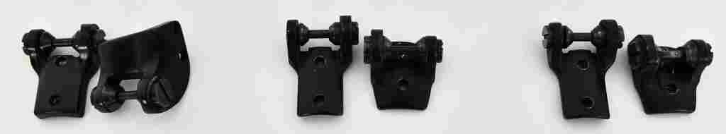 Set of 3 Old style Bausch and Lomb scope mount