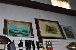 LOT OF THREE FRAMED ART VINTAGE PICTURES