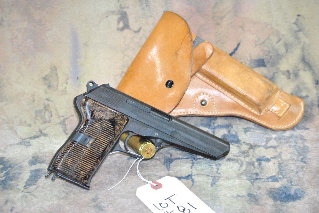 CZ 52 1953 Semi Automatic Pistol 7.62x25 w/holster