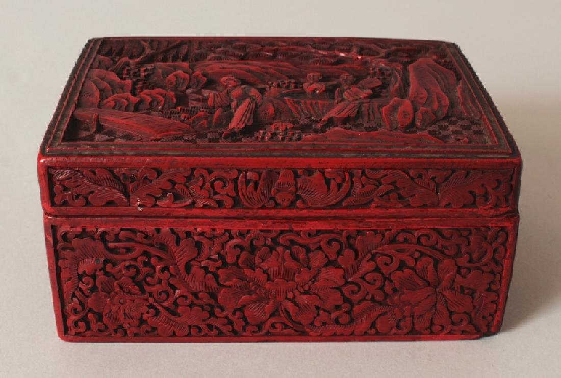 A 19TH/20TH CENTURY CHINESE RED CINNABAR LACQUER