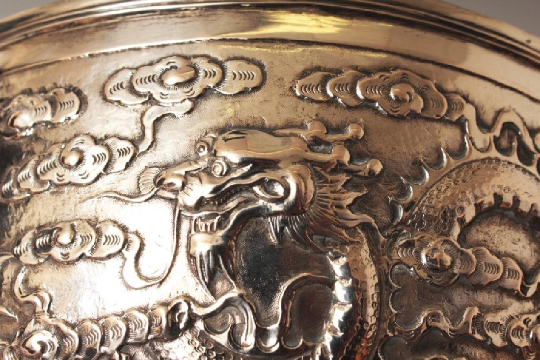 A GOOD EARLY 20TH CENTURY CHINESE SILVER BOWL, possibly - 5