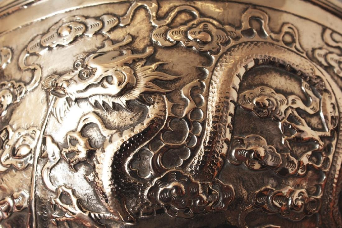 A GOOD EARLY 20TH CENTURY CHINESE SILVER BOWL, possibly - 6
