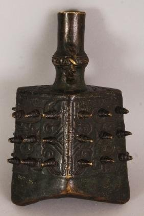 AN EARLY 20TH CENTURY CHINESE SHANG STYLE BRONZE BELL,