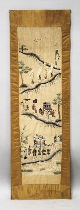 AN EARLY 20TH CENTURY CHINESE OR VIETNAMESE SILK