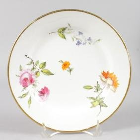 AN EARLY 19TH CENTURY SWANSEA PLATE painted with