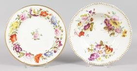 A 19TH CENTURY DERBY PLATE painted with a continuous