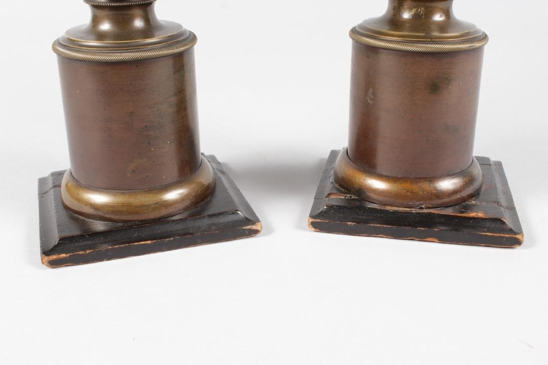 A RARE PAIR OF 19TH CENTURY BRONZES OF NEGRO BUSTS - 4