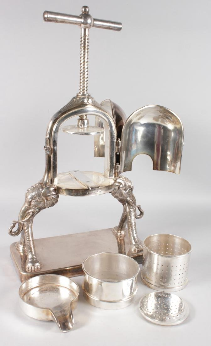 A FRENCH SILVER PLATED DUCK PRESS by CAILAR, BAYARD & - 10