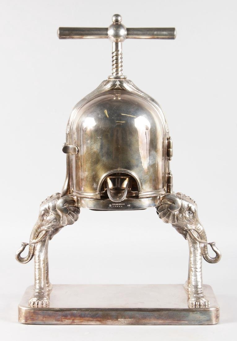 A FRENCH SILVER PLATED DUCK PRESS by CAILAR, BAYARD & - 2