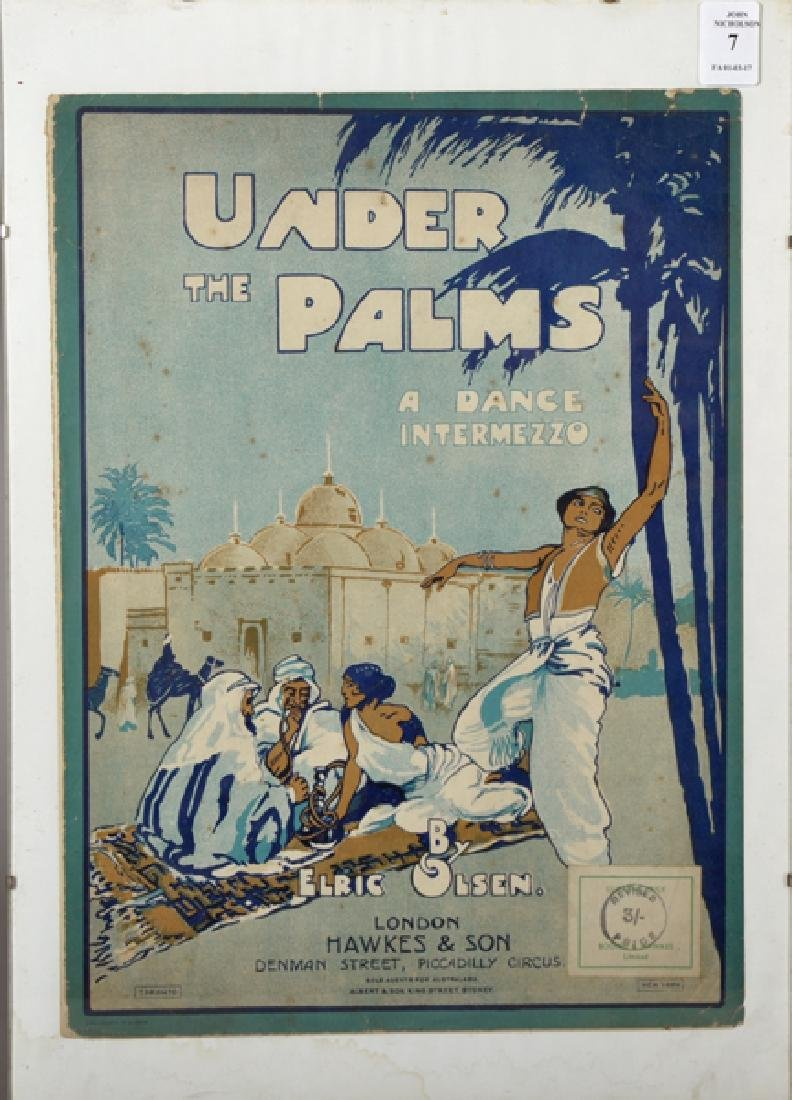 Elric Olsen (20th Century). 'Under the Palms, a Dance