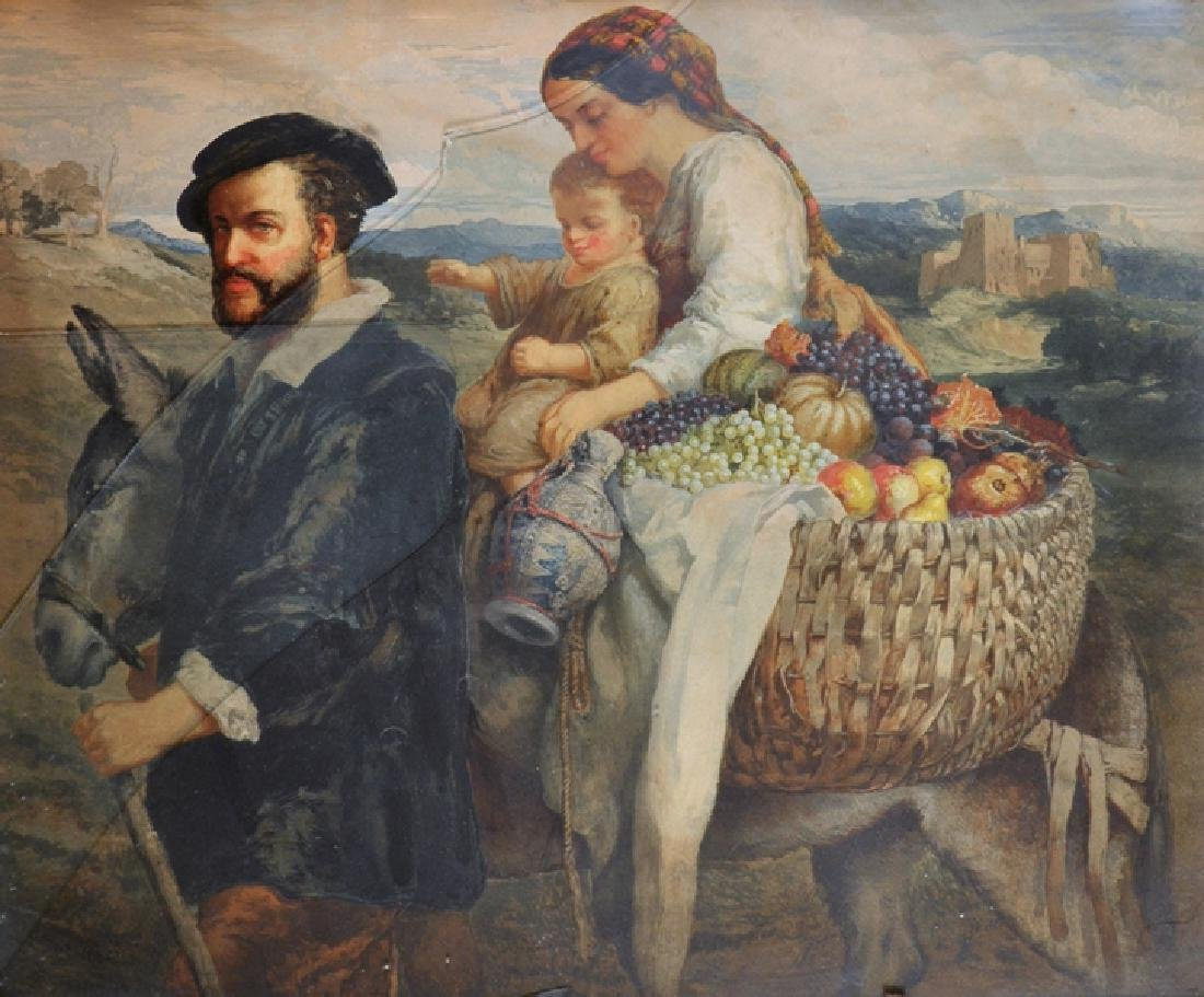 19th Century English School. The Holy Family,